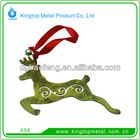 OEM zinc alloy deerlet hanging ornament for christmas