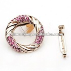 gold brooch, crystal brooch jewelry, high quality costume jewelry