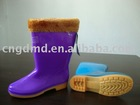 Fashion women rain warm boots new design2011