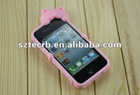 Fashion silicon cover for iphone 4/S,KOKO cat case
