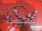 basket ball earrings , crystal circle stud earrings , crystal pave ball earrings, shamballa crystal ball stud