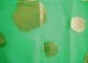 Silk metallic jacquard chiffon dyed