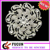 large flower rhinestone brooch