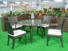 leisure synthetic rattan furniture dining table sets