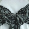 decorative chameleon flock sash for banquet chair cover in wedding