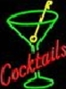 Cocktail OPEN neon sign and display