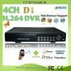 4channel full d1 cctv dvr recorder (D7104B-U)
