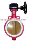 worm gear wafer butterfly valves