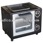 Intelligent mini toaster oven with frying plate