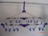 Folding plastic hanger