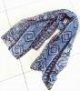 100% acrylic striped scarf
