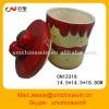 customized ice cream ceramic cookie jar