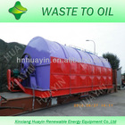all capacity waste tyre to oil recycling machine
