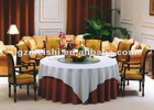 100% polyester red white hotel/banquet round Table linen