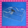 Acrylic box with hinge and lock