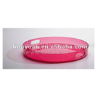 Red Perspx Acrylic Round Fruit Trays