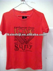 the red color sport 100% natural cotton t-shirt