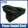 New External 7.1 Ch usb 2.0 3d creative Audio sound card - Black Wings