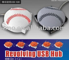 4 ports usb hub baseball shaped-usb promotion gift with CE and ROHS