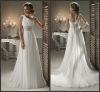 Hot Sale One Shoulder Empire Chiffon Wedding Bridal Dresses