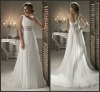 Hot Sale One Shoulder Empire Chiffon Wedding Bridal Dresses
