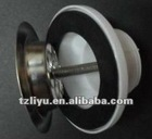 basin waste strainer with rubber plug and chain drainer chrome-plated slotted waste supplier
