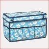 Blue Flower Pattern Non-woven Storage Box