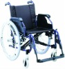 Low seat back soft seat pad aluminum wheelchair
