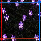 32 led solar flower outdoor light purple