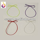 Flat, round elastic stretch loop ribbon as gifts decoration