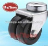 European type bolt hole swivel twin wheel caster