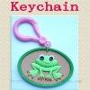 3D Frog pvc keychains