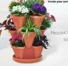 Plastic Stackable terracotta flower Pot