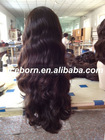 Fashional european body wave hair for jewish wig/kosher wigs