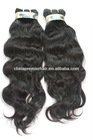 Top Quality Russian Virgin Natural Color Natural Wave Human Hair Weave