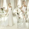 Newest fashionable one shoulder wedding dress