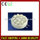 LED G4 light;12pcs 5mm strat hat led;0.7W;DC12V input;cool white color