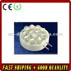 LED G4 light;12pcs 5mm strat hat led;0.7W;DC12V input;cool white color