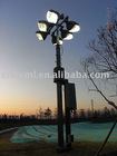 15m Golf Course Pneumatic Telescopic Lighting Mast And Vertical mounted Lighting Mast And Light Tower