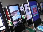55inch Sumsung free standing lcd advertising display,touch screen floor stand,advertising kiosk touchscreen for airport/hotel