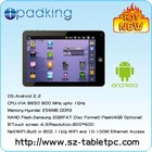 with Flash10.3, Google, G-mail, G-map 8 inch mid tablet pc manual