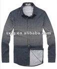 Men's 2012 casual shirt in gradient colour&small checks