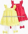 Baby girls Eyelet Tunic and leggings clothing sets