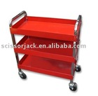 3 Shelves Service Cart With Chrome Leg