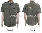 bulk white Olive t-shirts Canvas shirt cotton shirt casual shirt