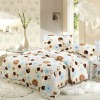 coral fleece bedding set