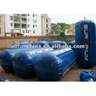 inflatable cylinder buoys for water event advertising
