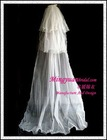 Three Layered Ivory Long Veil