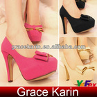 Ladies Suede Bow-Knot High Heels Shoes SH51