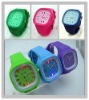 fashion unisex custom jelly watch with led light